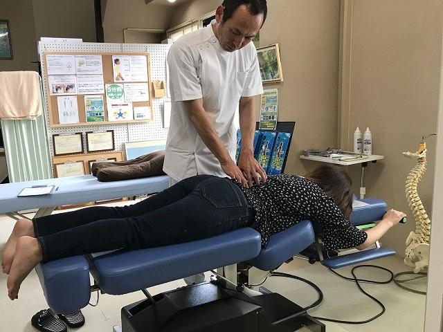 腰の骨や骨盤の可動検査