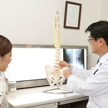 股関節の説明をしている